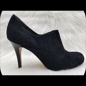 COLE HAAN Nike Air Suede Leather Heeled Booties